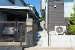 K氏邸 スロープ・階段・門扉の新設(施工後)2